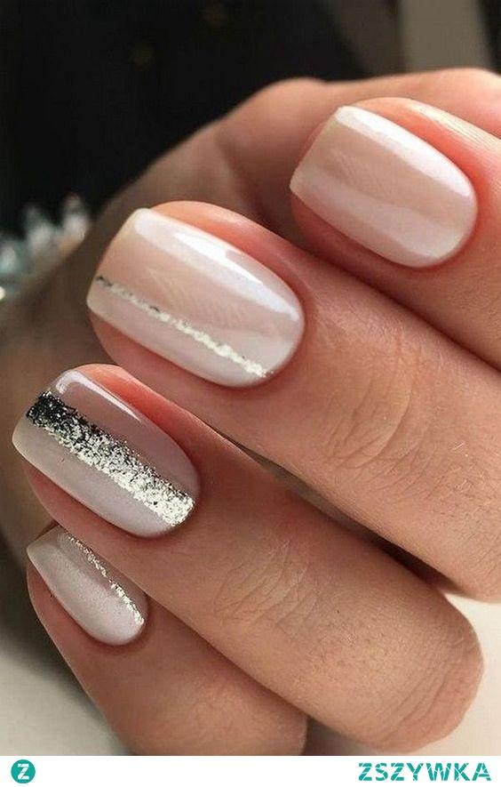 paznokcie ze srebrem