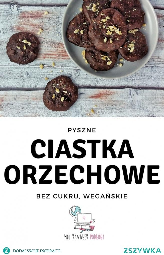 Banalne w przygotowaniu ciastka orzechowe z kakao. Bez dodatku cukru, wegańskie