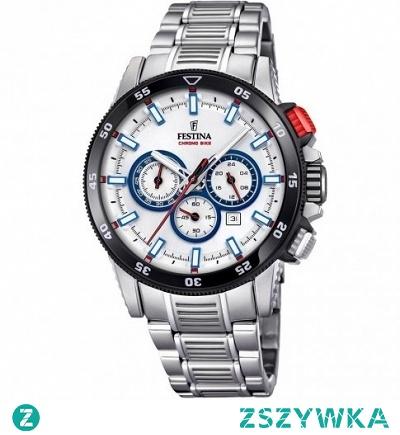 Festina 20352/1 męski zegarek sportowy wykonany z antyalergicznej stali. Mocowany na bransolecie. Posiada jasną tarczę. Wyposażony w wysoką skale wodoszczelności 100 metrów. Aby przenieść się do sklepu kliknij w zdjęcie :)