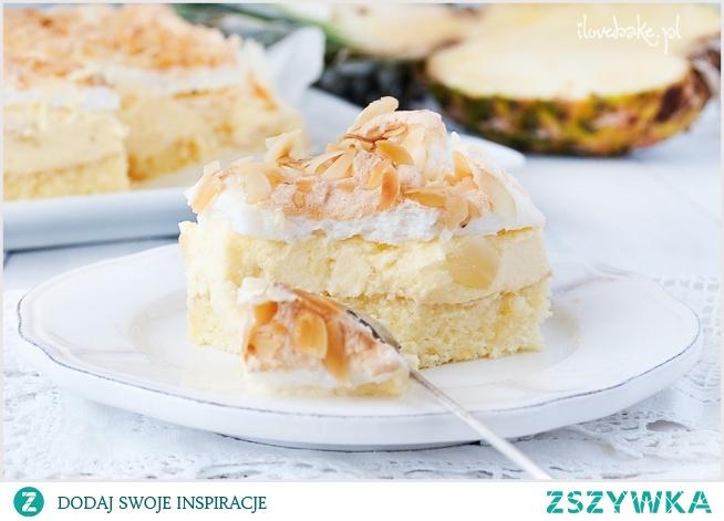 Ciasto Pina Colada - na biszkopcie