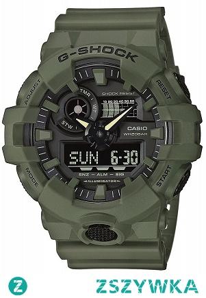Casio GA-700UC-3AER sportowy czasomierz dla mężczyzn ze znanej dla tej marki kolekcji G-shock. Wielofunkcyjny i wytrzymały zegarek w kolorze zielonym. Aby przenieść się do sklepu kliknij w zdjęcie :)
