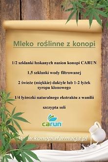 MLEKO ROŚLINNE Z NASION KONOPI <3  Nasiona konopi to świetna alternatywa dla soi. Białko z konopi jest lepiej przyswajalne niż sojowe, a zarazem konopie siewne pozbawione są ...