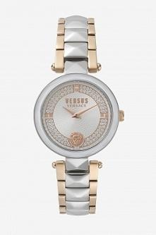 Versus Versace VSPCD2517 kobiecy zegarek wykonany ze stali w podwójnym kolorze złotym i srebrnym. Jasną tarcze zdobią błyszczące cyrkonie. Aby przenieść się do sklepu kliknij w ...