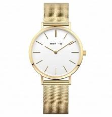 Bering 14134-331 zegarek dla kobiet w odcieniu żółtego złota. Wykonany z antyalergicznej stali na siatkowej bransolecie z możliwością regulacji. Aby przenieść się do sklepu klik...