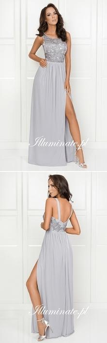 Długa szara sukienka z kolekcji Illuminate <3 Idealna dla druhen <3