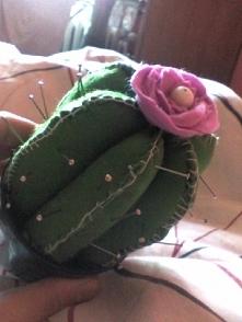 Kaktus z filcu. Poduszka na szpilki. Uwielbiam szyć, wkręciłam się