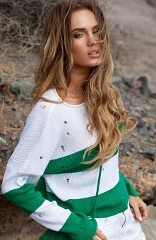 FIMFI I296 sweter zielony R...