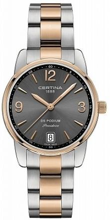 Certina C034.210.22.427.00 kobiecy zegarek wykonany ze stali szlachetnej w kolorze różowego złota i srebra wyposażony w wytrzymałe szkło szafirowe. Aby przenieść się do sklepu k...