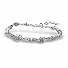 Unikalna Srebrna Bransoletka - srebro 925, Cyrkonia