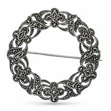 Srebrna Broszka - srebro 925, Markasyt