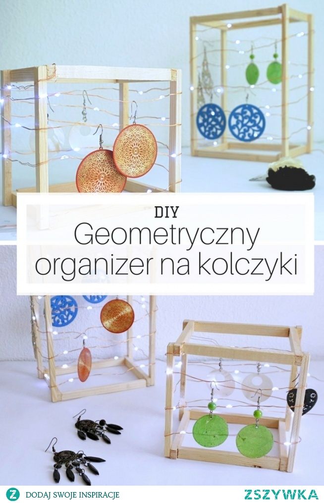 DIY Orgnizer / stojak na kolczyki