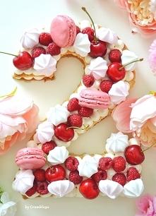 Number cake, który przygotowałam na drugą rocznicę mojego ślubu :) Korzystałam z przepisu z Moich Wypieków ;)