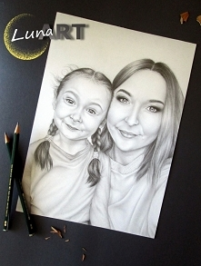 Portret wykonany ołówkiem <3