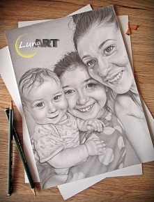 Portret wykonany ołówkiem :)