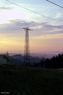 Zachód słońca w Gliczarowie Górnym