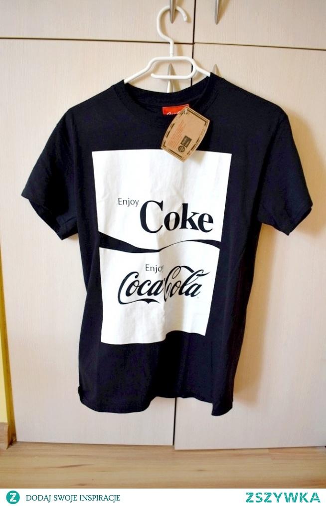 0afe78e18 T-shirt czarny biały Coca-Cola 36 S T-shirt nowy z metką bez wa.. na ...