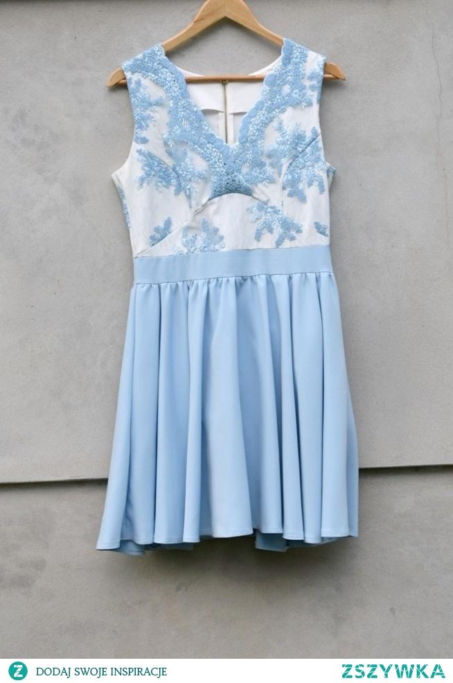 ab7bcca6f7 Sukienka na wesele komunię 40 L błękitna niebieska Sukienka ide.. na ...