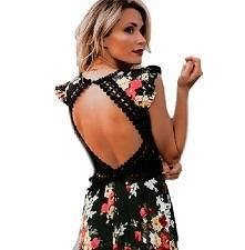 Asymetryczna sukienka w kwi...