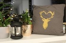poduszka z jeleniem  handma...