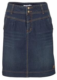 Spódnica dżinsowa ze stretchem bonprix ciemnoniebieski