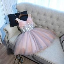 Seksowne Różowy Perłowy Sukienki Koktajlowe 2018 Kokarda Cekiny V-Szyja Bez Rękawów Bez Pleców Krótkie Sukienki Wizytowe