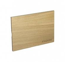 Pokrywka drewniana do pudełek na biżuterię Mini Stackers jasna
