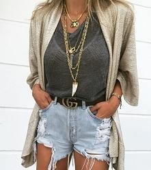 Stylówka z jeansowymi szortami