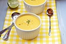 Zupa z dynii, curry i serki...