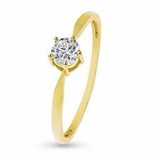 Zjawiskowy Złoty Pierścionek - złoto żółte 333, Cyrkonia