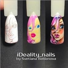 дизайн ногтей лицо