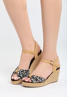 Czarne Sandały Creme Brulee