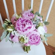 Bukiet ślubny: pudrowy róż ...