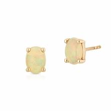 PROMOCJA Kolczyki Złote - złoto żółte 375, Opal etiopski