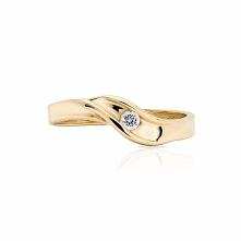PROMOCJA Złoty Pierścionek - złoto żółte 333, Cyrkonia