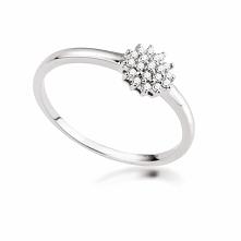 Zjawiskowy Białe Złoto Pierścionek - złoto białe 333, Diament 0,10ct