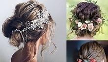 kwiaty we włosach..
