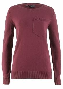 Sweter z kieszonką bonprix czerwony klonowy