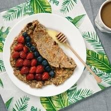 Najlepsze na śniadanie, omlet z owocami! :)