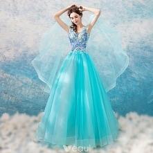 Piękne Niebieskie Sukienki ...