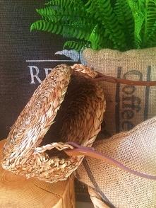 DIY jak zrobić okrągły koszyk z trawy