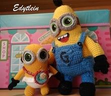 Baby Minion i dorosły Minionek Edek - w grupie raźniej,a dobry przyjaciel zawsze się zaopiekuję młodszym kolegą!