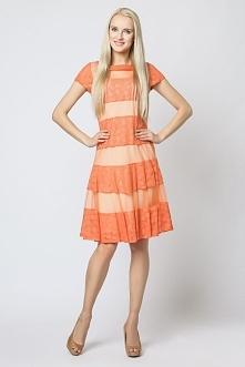 Efektowna sukienka rozkloszowana mr-337b