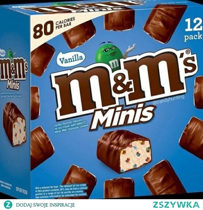 Kolejna nowość od m&ms ! Tym razem małe kostki lodów o smaku waniliowym z kawałkami tych pysznych cukierków! Dodatkowo o obniżonej zawartości tłuszczu!