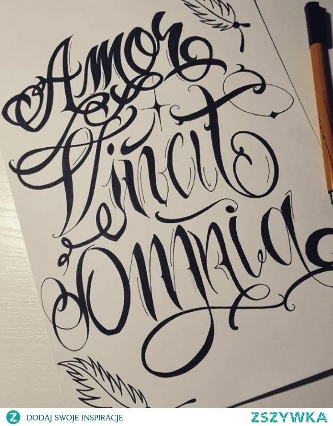 Amor Vincit Omnia Na Tattoo Zszywkapl