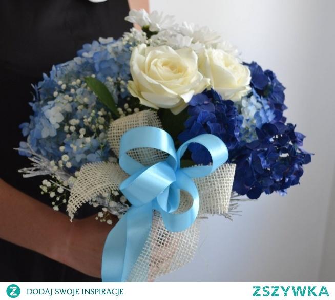 letni niebieski bukiet