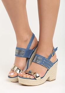 Niebieskie Sandały Sexy Back