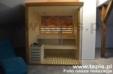 Sauna Design z murem solnym...