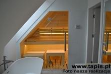 Sauna Design w białej łazie...