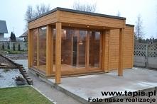 Domek ogrodowy z sauną fińs...