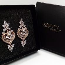 AMIRA - kolczyki z kolekcji ekskluzywnej biżuterii ślubnej by KOKONET